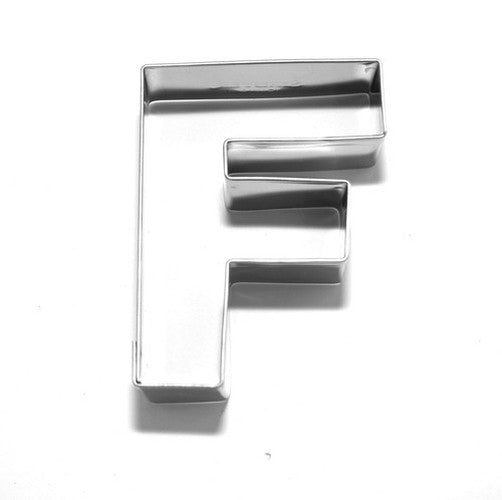 Letter F 6.5 cm Cookie Cutter Stainless Steel-Cookie Cutter Shop Australia