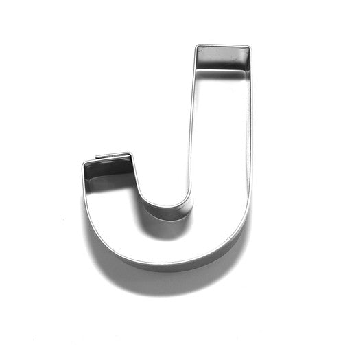 Letter J 6.5 cm Cookie Cutter Stainless Steel-Cookie Cutter Shop Australia