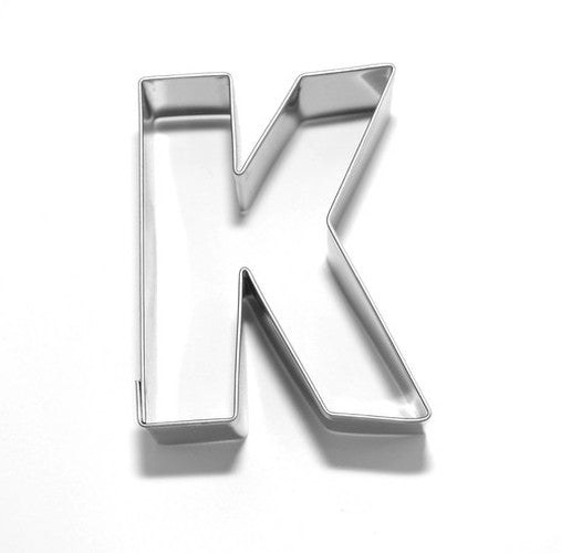 Letter K 6.5 cm Cookie Cutter Stainless Steel-Cookie Cutter Shop Australia