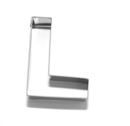 Letter L 6.5 cm Cookie Cutter Stainless Steel-Cookie Cutter Shop Australia