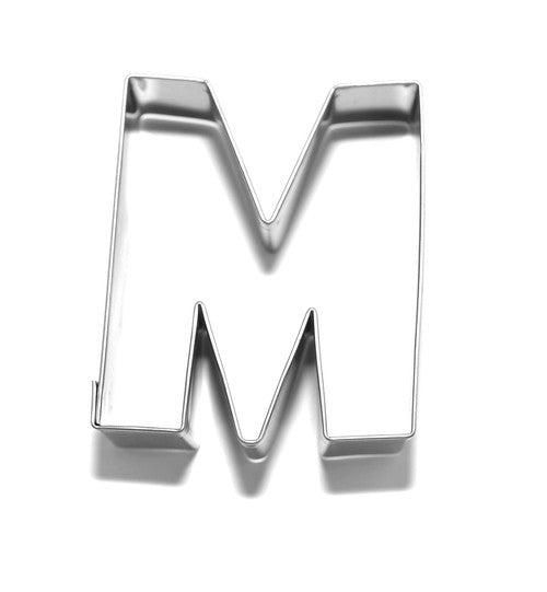 Letter M 6.5 cm Cookie Cutter Stainless Steel-Cookie Cutter Shop Australia