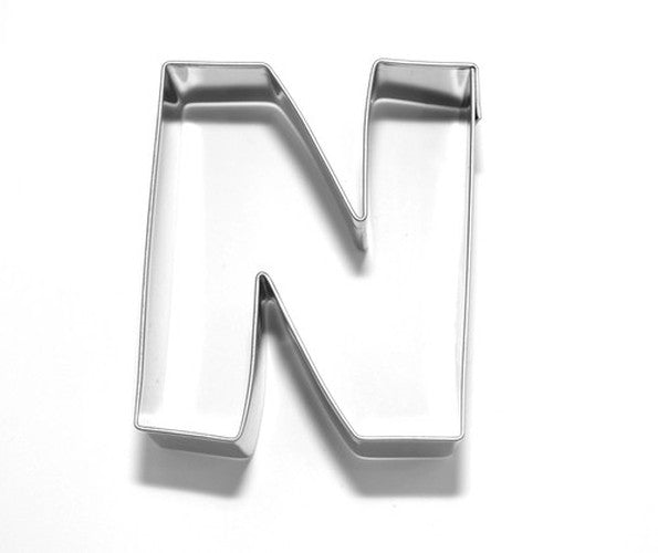 Letter N 6.5 cm Cookie Cutter Stainless Steel-Cookie Cutter Shop Australia