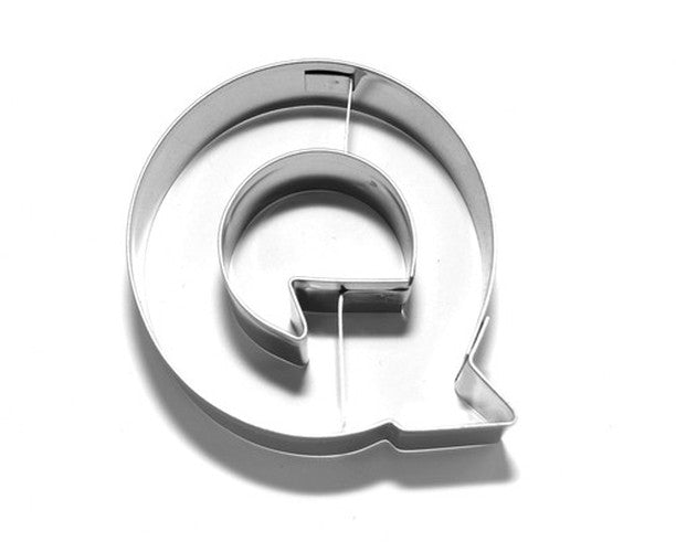 Letter Q 6.5 cm Cookie Cutter Stainless Steel-Cookie Cutter Shop Australia