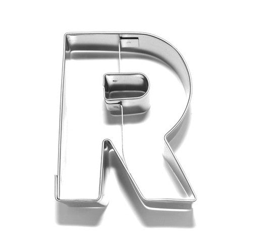 Letter R 6.5 cm Cookie Cutter Stainless Steel-Cookie Cutter Shop Australia