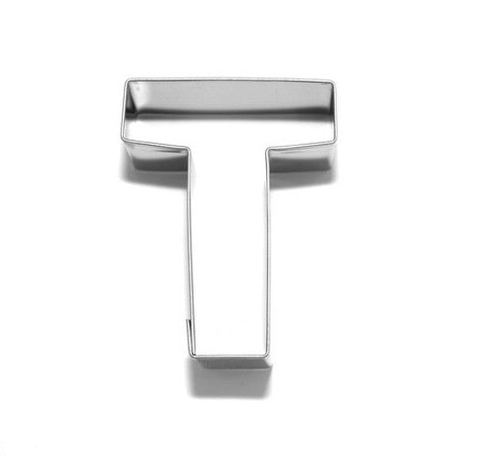 Letter T 6.5 cm Cookie Cutter Stainless Steel-Cookie Cutter Shop Australia