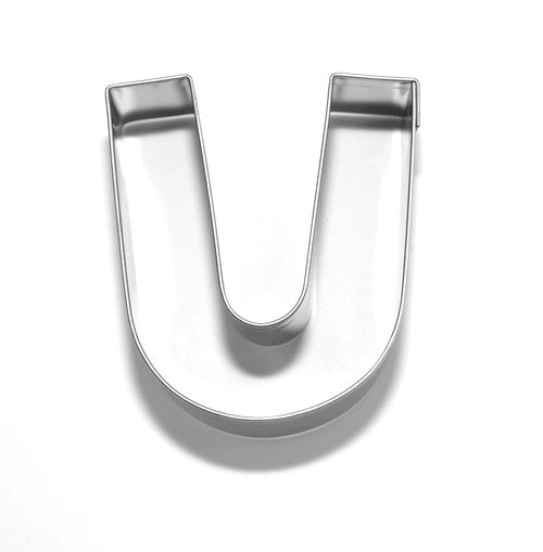 Letter U 6.5 cm Cookie Cutter Stainless Steel-Cookie Cutter Shop Australia