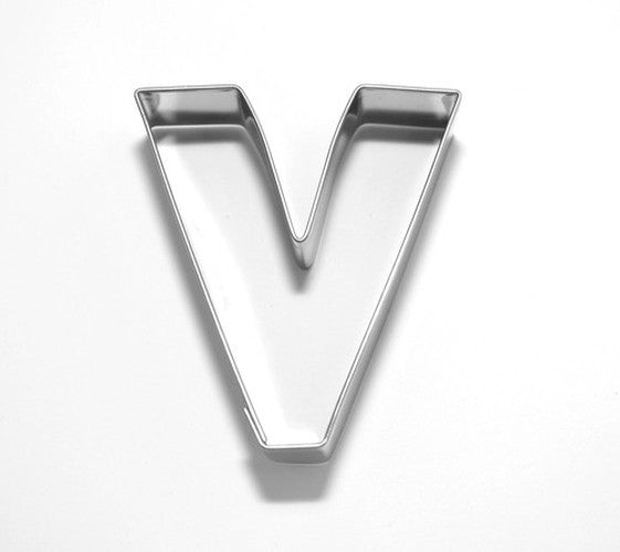 Letter V 6.5 cm Cookie Cutter Stainless Steel-Cookie Cutter Shop Australia