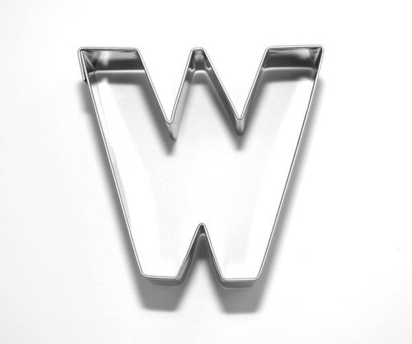 Letter W 6.5 cm Cookie Cutter Stainless Steel-Cookie Cutter Shop Australia