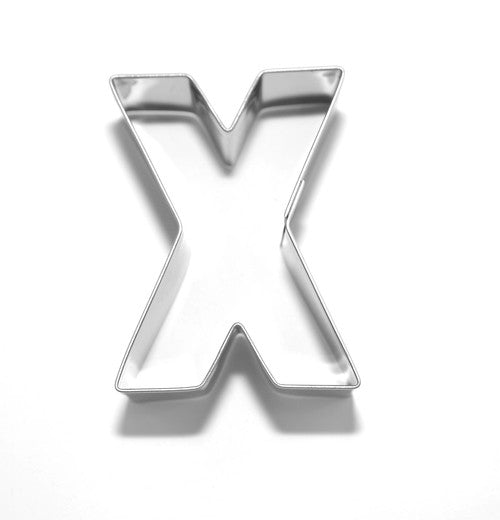 Letter X 6.5 cm Cookie Cutter Stainless Steel-Cookie Cutter Shop Australia