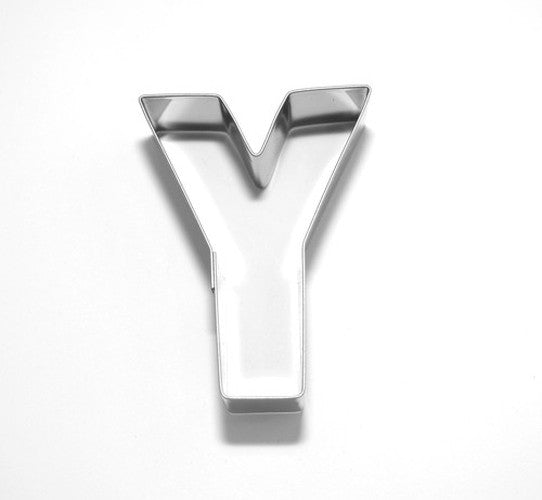 Letter Y 6.5 cm Cookie Cutter Stainless Steel-Cookie Cutter Shop Australia