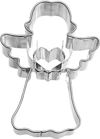 Angel Holding Heart 7cm Cookie Cutter-Cookie Cutter Shop Australia
