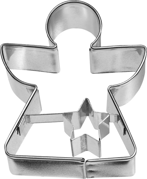 Angel 6cm with Geometric Base Cookie Cutter-Cookie Cutter Shop Australia