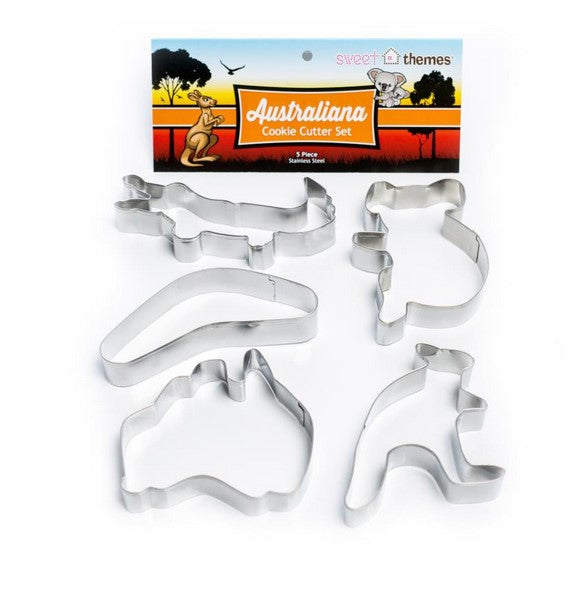 Australian Themed Cookie Cutter Set 5 Pieces | Cookie Cutter Set Australia
