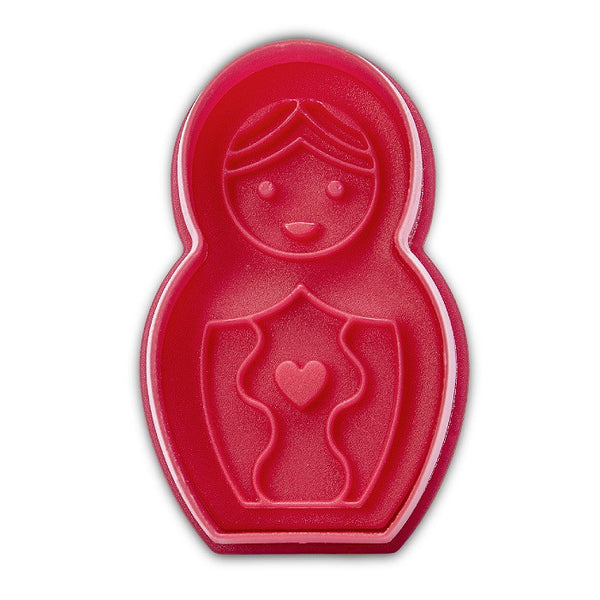 Babushka Doll 6cm Plastic Embossed Cookie Cutter | Cookie Cutter Shop Australia