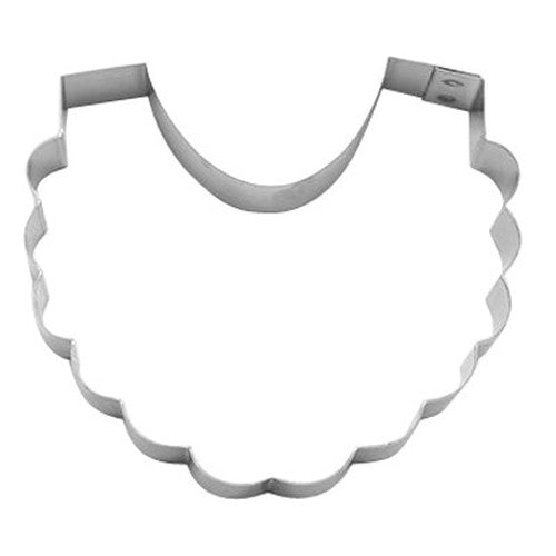 Frilly Baby Bib 8.5cm Cookie Cutter-Cookie Cutter Shop Australia