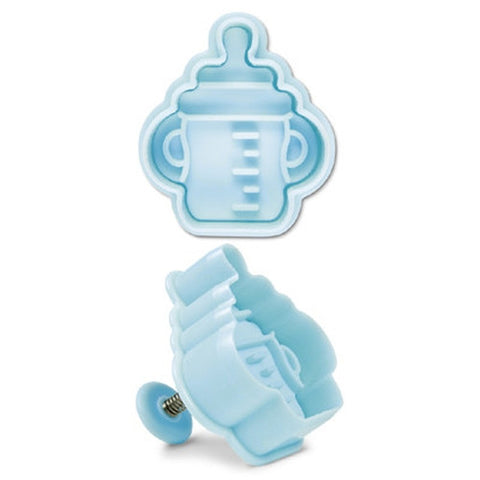 Baby Bottle Plastic Embossed 5cm Cookie Cutter-Cookie Cutter Shop Australia
