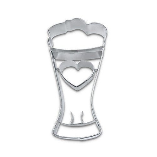 Beer Glass Embossed 8.5cm Cookie Cutter-Cookie Cutter Shop Australia