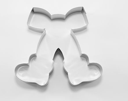 Christmas Bow with Boots Cookie Cutter | Cookie Cutter Shop Australia