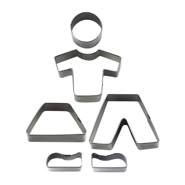 Boy and Girl Set of 6 Cookie Cutters 12cm-Cookie Cutter Shop Australia