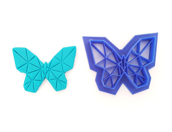 Butterfly with Geometric Details 5cm Fondant Cutter & Embosser-Cookie Cutter Shop Australia