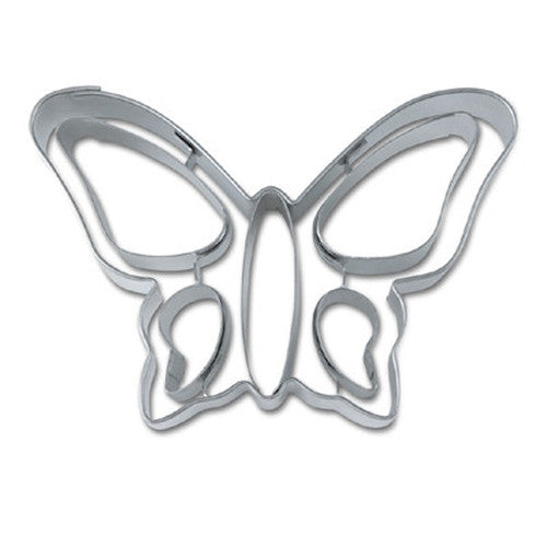 Butterfly with Embossed Detail 8.5cm Cookie Cutter-Cookie Cutter Shop Australia
