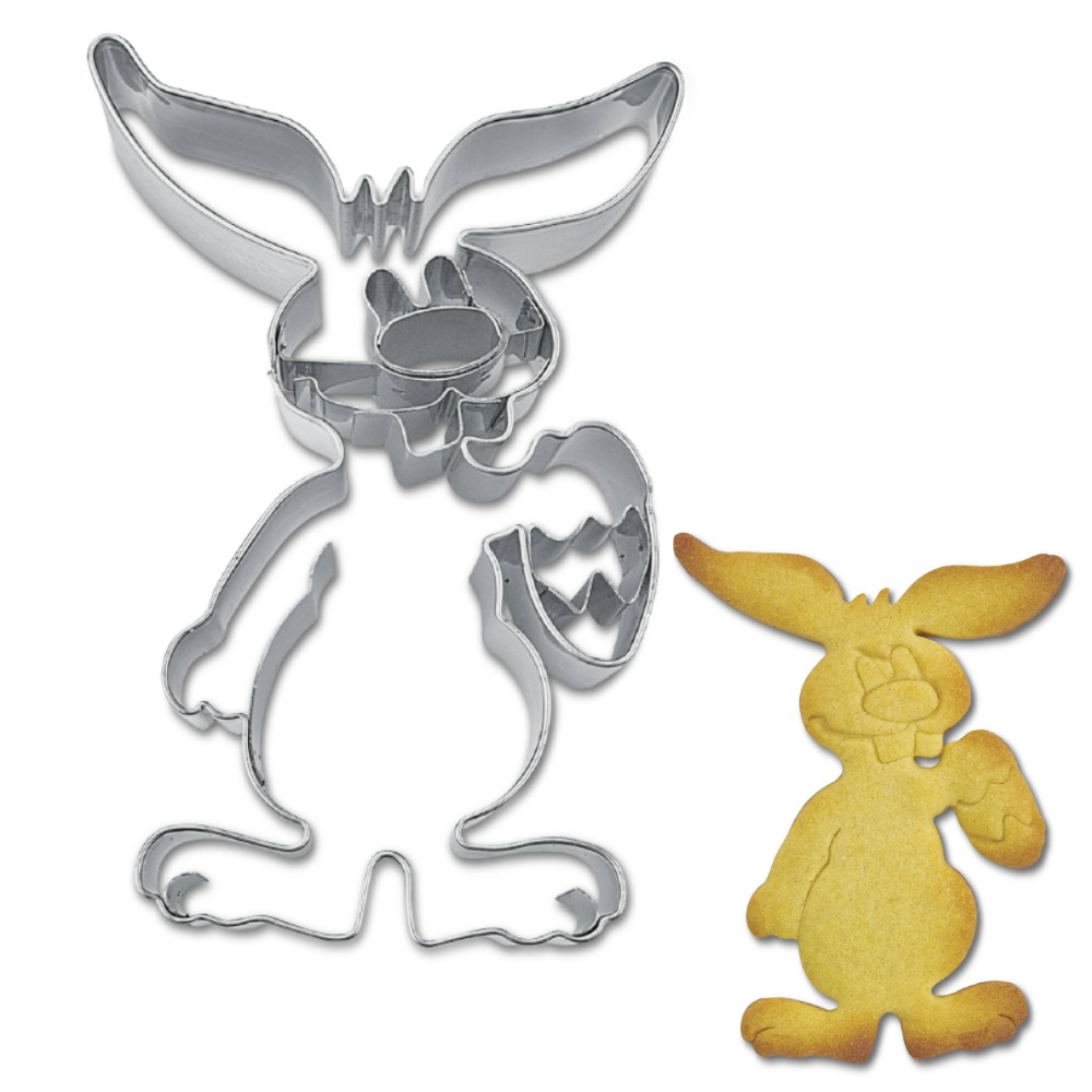 Easter Bunny with Egg 10cm Cookie Cutter