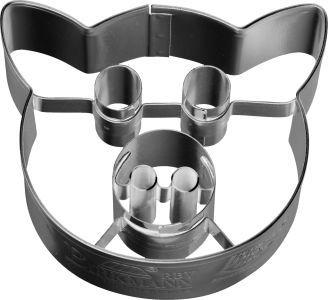 Pig Face Cookie Cutter With Internal Detail 6cm  | Cookie Cutter Shop Australia