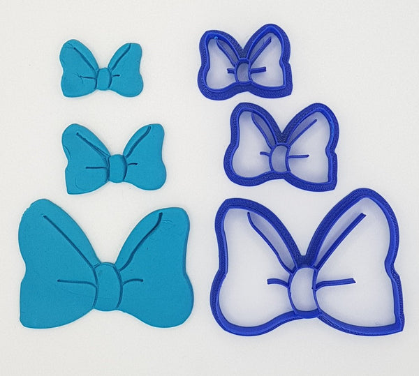 Bow Cookie Cutter Set with Internal Detail 3 Pieces