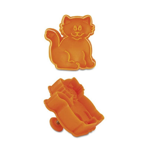 Cat Plastic Embossed 6cm Cookie Cutter-Cookie Cutter Shop Australia