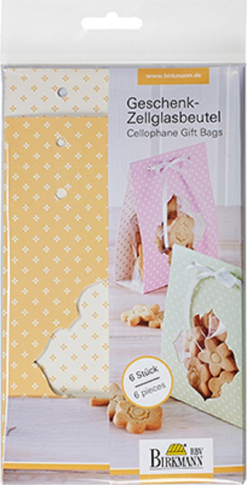 Cellophane Gift Bags Set of 6-Cookie Cutter Shop Australia