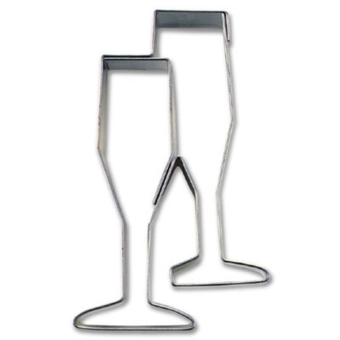 Champagne Glasses Cookie Cutter-Cookie Cutter Shop Australia