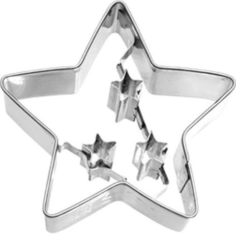 Christmas Star Cookie Cutter 6.5cm-Cookie Cutter Shop Australia