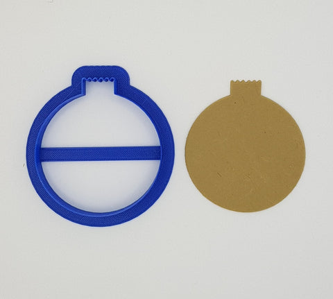 Round Christmas Ornament 7cm Cookie Cutter-Cookie Cutter Shop Australia