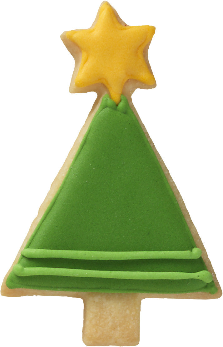Christmas Tree 7.5cm with Geometric Base Cookie Cutter-Cookie Cutter Shop Australia