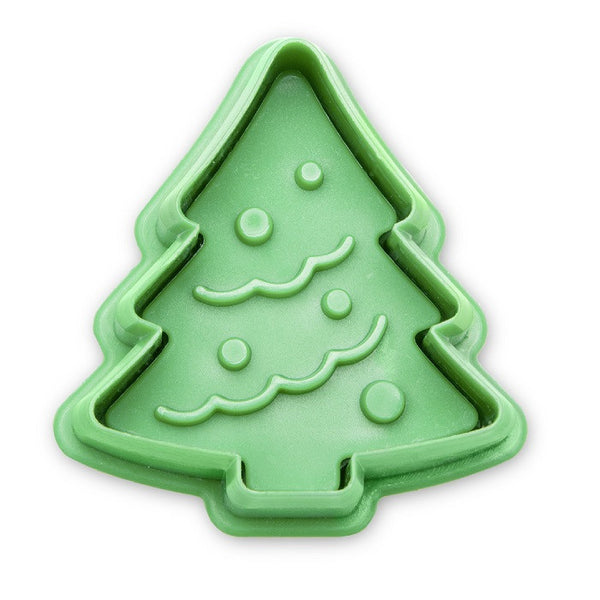 Christmas Tree 5cm Plastic Embossed Cookie Cutter-Cookie Cutter Shop Australia