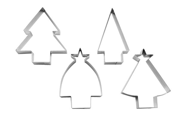 Christmas Tree 10cm Set of 4 Cookie Cutters-Cookie Cutter Shop Australia