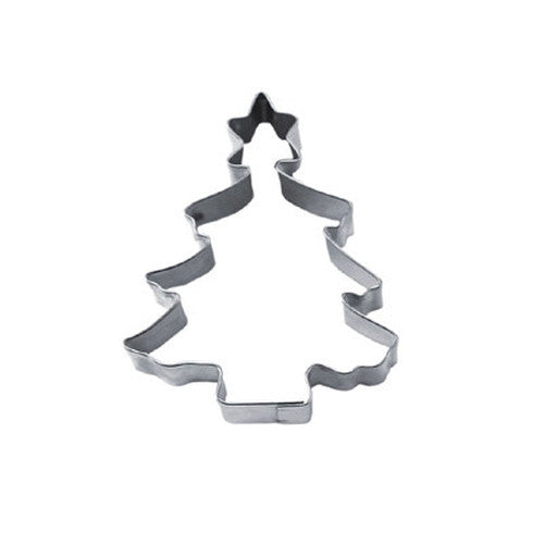 Christmas Tree with Star 9.5cm Cookie Cutter-Cookie Cutter Shop Australia