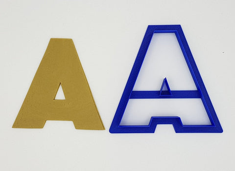 Chunky Alphabet Letter A 9.5cm Cookie Cutter