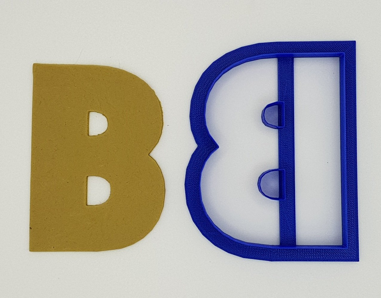 Letter B Cookie Cutter Chunky Alphabet 9.5cm | Cookie Cutter Shop Australia