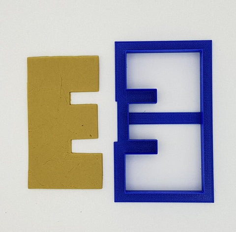 Chunky Alphabet Letter E 9.5cm Cookie Cutter