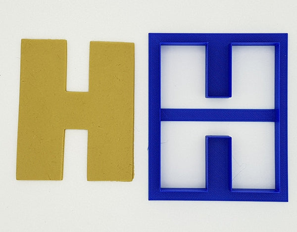 Chunky Alphabet Letter H 9.5cm Cookie Cutter