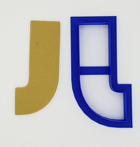 Chunky Alphabet Letter J 9.5cm Cookie Cutter