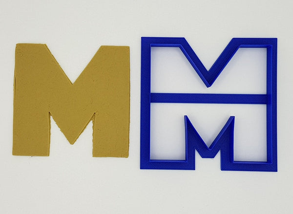 Chunky Alphabet Letter M 9.5cm Cookie Cutter