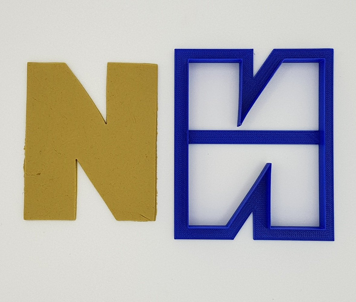 Chunky Alphabet Letter N 9.5cm Cookie Cutter