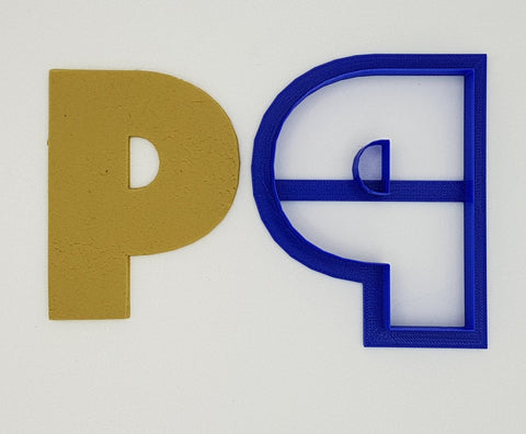Chunky Alphabet Letter P 9.5cm Cookie Cutter