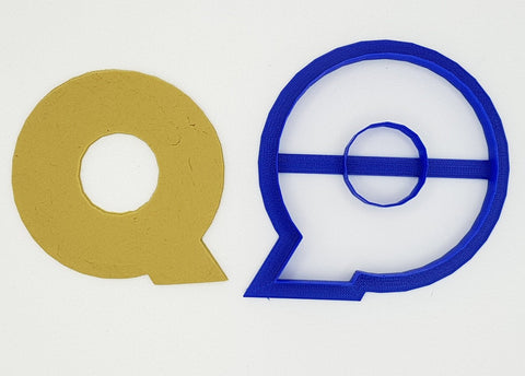 Chunky Alphabet Letter Q 9.5cm Cookie Cutter
