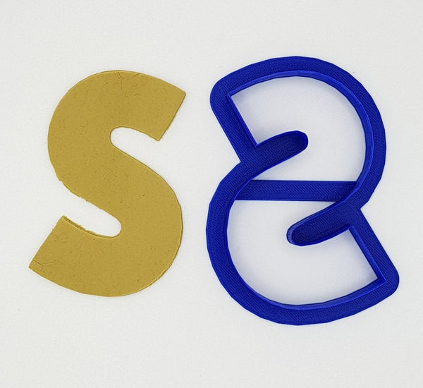 Chunky Alphabet Letter S 9.5cm Cookie Cutter