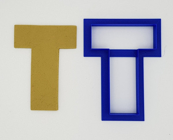 Chunky Alphabet Letter T 9.5cm Cookie Cutter