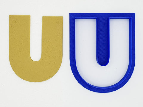 Chunky Alphabet Letter U 9.5cm Cookie Cutter