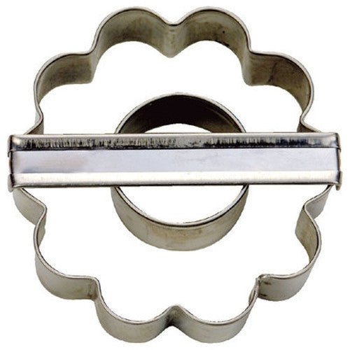 Crinkle Cut Double Ring Cookie Cutter-Cookie Cutter Shop Australia